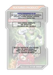 Guia Visual The Brave And The Bold - TodoHeroclix.es