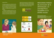Tríptico informativo en castellano - Programa Perseo