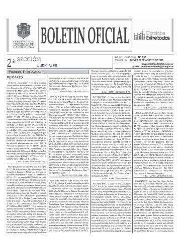 seccion2 modelo - Boletin Oficial