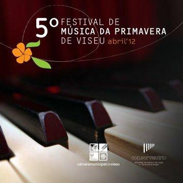 programa completo do 5º Festival da Primavera - Farmácia Marques