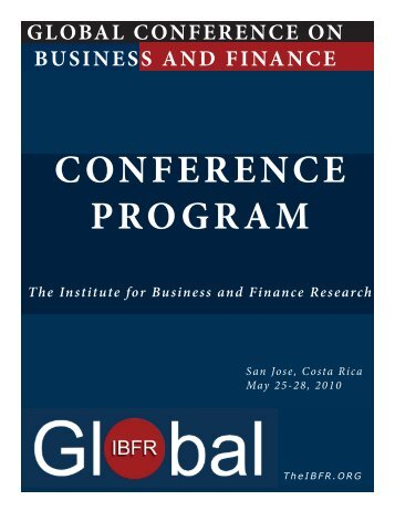 Table of Contents - The Institute for Business and Finance Research ...