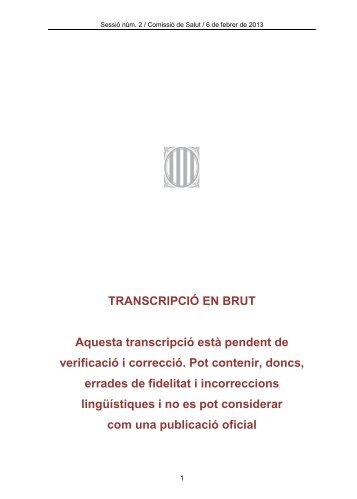 Transcripció COmissió de Salut 6 febrer 2013 - Esquerra ...