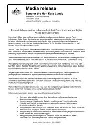 Media release, Indonesian - Department of Immigration & Citizenship