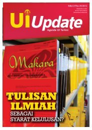 tulisan ilmiah - UI Update Online - Universitas Indonesia
