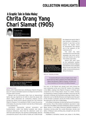 Chrita Orang Yang Chari Slamat (1905) - National Library Singapore