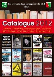 Catalogue 2012 - GB Gerakbudaya