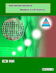 The International Journal on Advances in Life - IARIA Journals