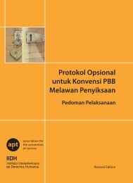 OPCAT Manual Bahasa Indonesia - Association for the Prevention ...