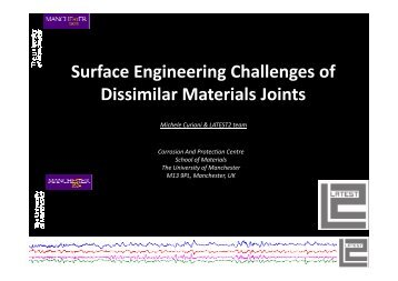 Surface Engineering Challenges of dissimilar material joints