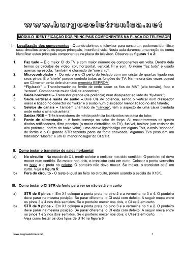MÓDULO IDENTIFICAÇÃO DOS PRINCIPAIS ... - Burgoseletronica