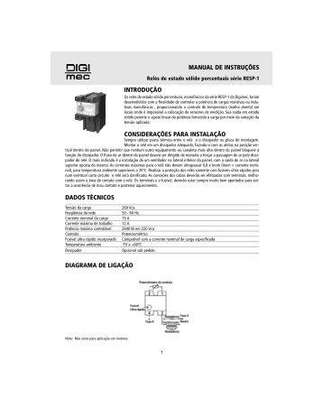 manual de instruções introdução considerações para instalação ...