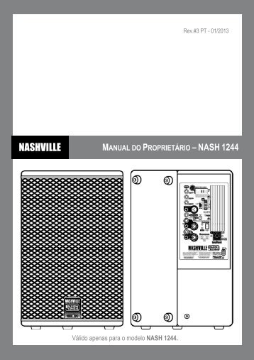 Download do Manual de Operação - Nashville
