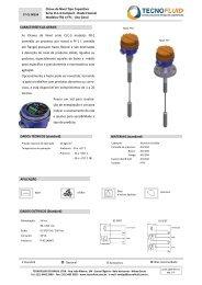 Chave de Nível Tipo Capacitiva Série CLC-3 Compact ... - Tecnofluid