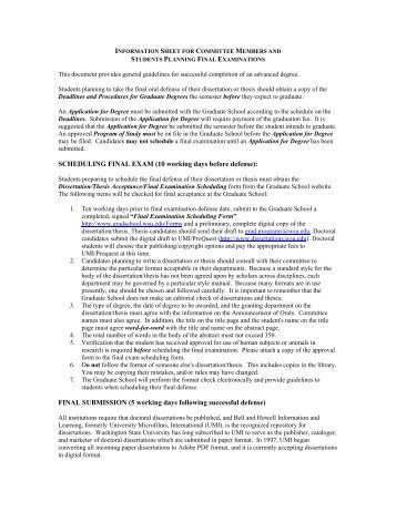 Dissertation and Thesis Guidelines - Graduate School - Washington ...
