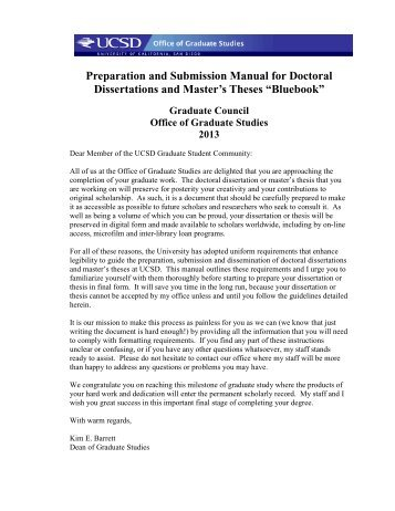 Dissertation and Thesis Formatting Manual - Office of Graduate ...