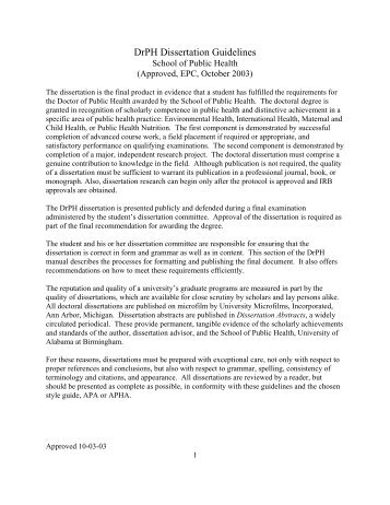 ssees dissertation guidelines