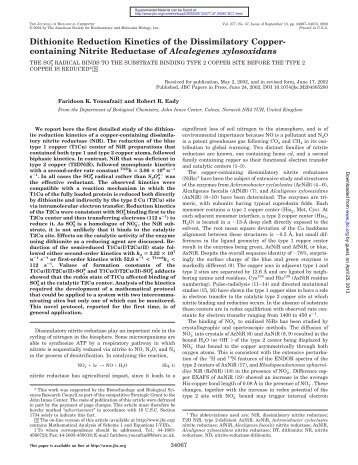 containing Nitrite Reductase of Alcalegenes xylosoxidans