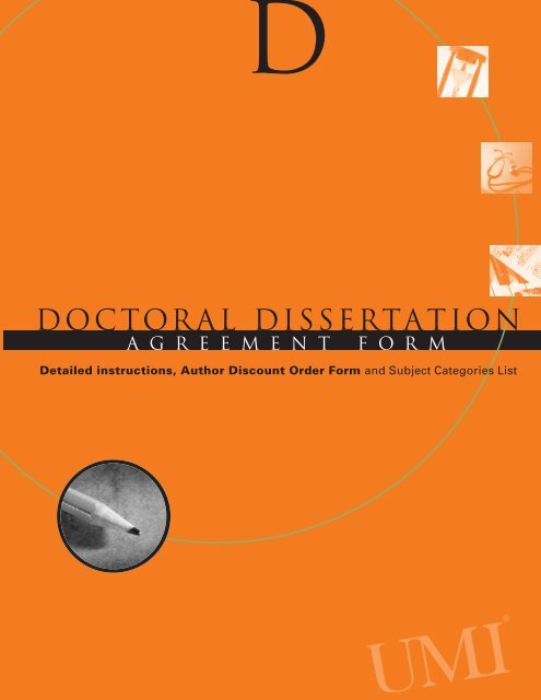 A dissertation author to acquire list recommendations and agreement