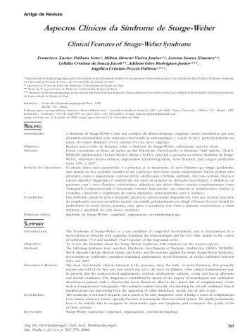 Aspectos Clínicos da Síndrome de Sturge-Weber