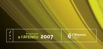 programació A l'Ateneu 2007 - Ajuntament de Sant Celoni