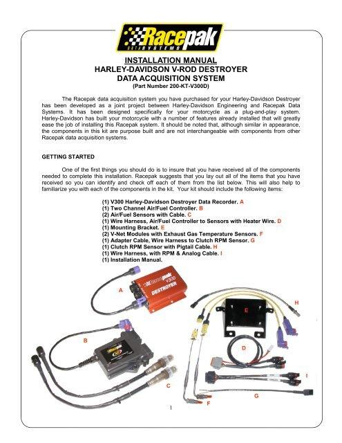 H-D Destroyer Installation Manual - Racepak Data Systems on