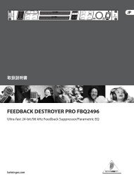 FEEDBACK DESTROYER PRO FBQ2496 - Behringer