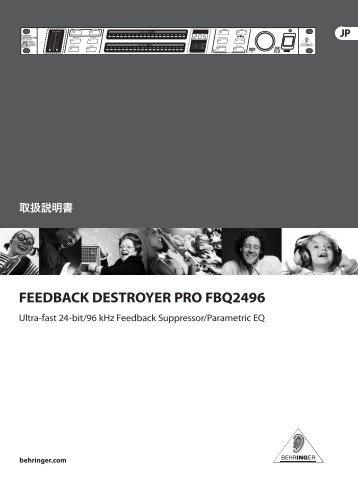 FEEDBACK DESTROYER PRO FBQ2496 - Behringer