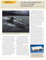 U.S. Navy Uses Proprietary ATI Alloy For New Destroyer Ships