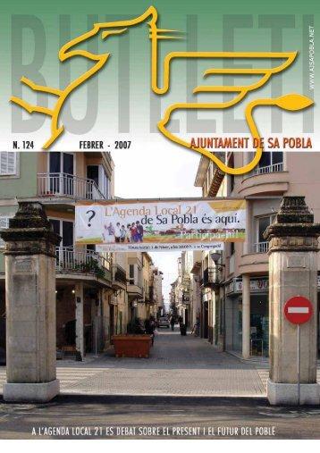 Butlletí Municipal 124. Febrer 2007. - Ajuntament de Sa Pobla