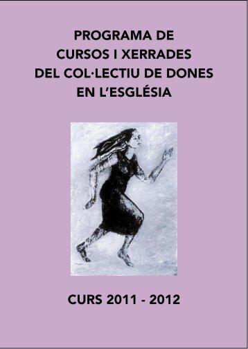portada cursos 20112012 - Col·lectiu de Dones en l'Església