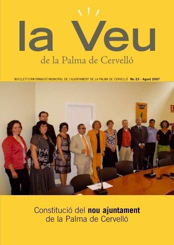 La Veu Nº 23 Agost 2007 - Palma de Cervelló, la