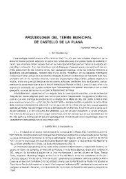 arqueologia del terme municipal de castello de la plana - Cuevas de ...