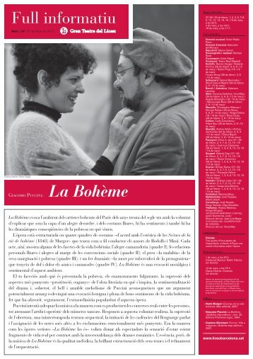 Full informatiu - Gran Teatre del Liceu