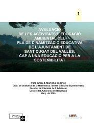 avaluació de les activitats d'educació ambiental del pla de ...