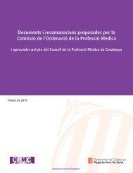 Documents i recomanacions proposades per la Comissió de l ...