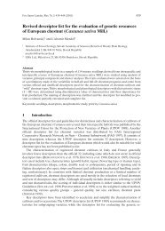 Revised descriptor list for the evaluation of genetic resources of ...