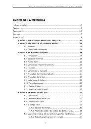 ÍNDEX DE LA MEMÒRIA - UPCommons