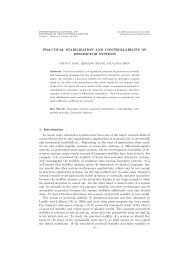 practical stabilization and controllability of descriptor systems