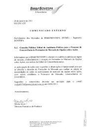 Comunicado Externo 003/2011-DT - BM&FBovespa