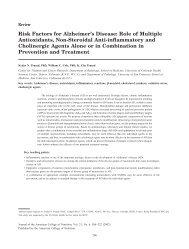 Risk Factors for Alzheimer's Disease - Journal of the American ...