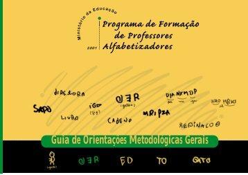 Guia de Orientações Metodológicas Gerais - Ministério da Educação