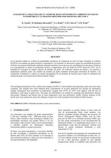 análisis de la fractura de un acero de bajo contenido en carbono ...