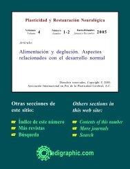 Alimentación y deglución. Aspectos relacionados ... - edigraphic.com