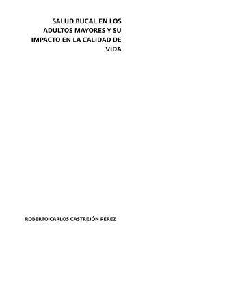 SALUD BUCAL EN LOS ADULTOS Mayores Y SU - Instituto de ...