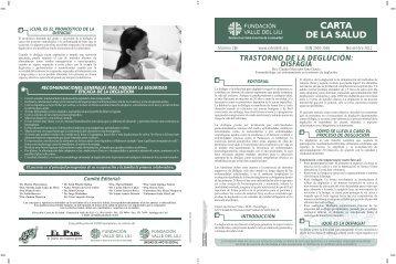 trastorno de la deglución: disfagia - Fundación Valle del Lili
