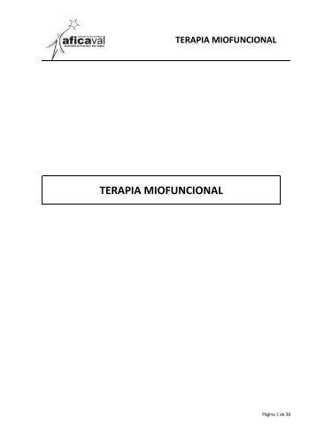TERAPIA MIOFUNCIONAL - AFICAVAL