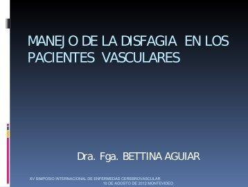 Manejo de la disfagia en los pacientes vasculares