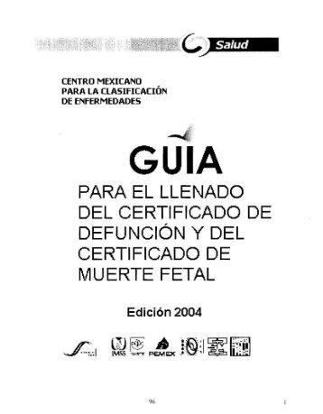 PARA EL LLENADO DEL CERTIFICADO DE DEFUNCION y DEL ...