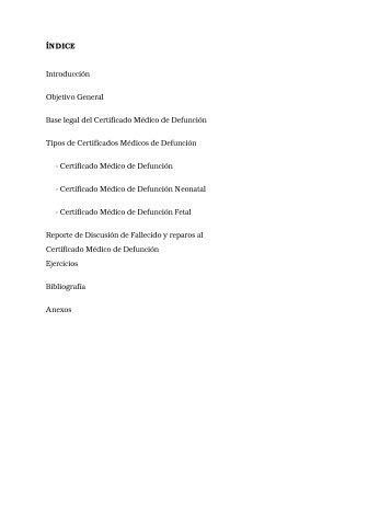 ÍNDICE Introducción Objetivo General Base legal del Certificado ...