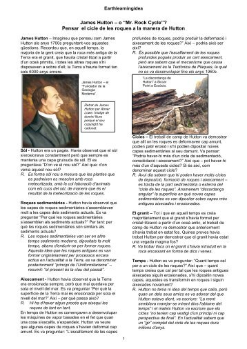 "James Hutton – o ""Mr. Rock Cycle"" - Earth Learning Idea"
